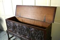 17th Century Carved Oak Sword Chest on Stand (7 of 10)