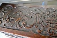 17th Century Carved Oak Sword Chest on Stand (6 of 10)