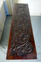 17th Century Carved Oak Sword Chest on Stand (5 of 10)