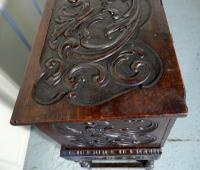 17th Century Carved Oak Sword Chest on Stand (4 of 10)