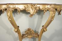 19th Century French Gilt Console Table with Marble Top (9 of 13)