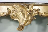 19th Century French Gilt Console Table with Marble Top (6 of 13)
