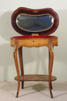 French Ormolu Mounted Kingwood Work / Vanity Table with Parquetry & Marquetry Inlay (14 of 20)