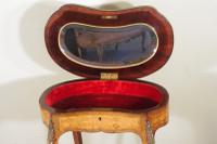 French Ormolu Mounted Kingwood Work / Vanity Table with Parquetry & Marquetry Inlay (13 of 20)