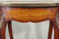 French Ormolu Mounted Kingwood Work / Vanity Table with Parquetry & Marquetry Inlay (6 of 20)