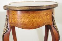 French Ormolu Mounted Kingwood Work / Vanity Table with Parquetry & Marquetry Inlay (5 of 20)