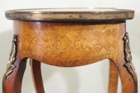 French Ormolu Mounted Kingwood Work / Vanity Table with Parquetry & Marquetry Inlay (4 of 20)
