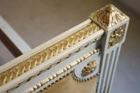 French Louis XVI Style Painted & Parcel-Gilt Bed (5 of 13)