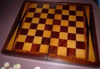 Victorian Chess & Backgammon Board C.1880