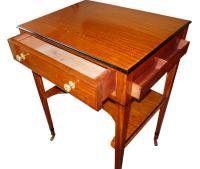 Fine Satinwood Ladies Writing Table / Dressing Table C.1865 (4 of 4)