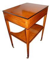 Fine Satinwood Ladies Writing Table / Dressing Table C.1865 (3 of 4)