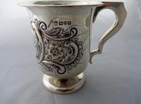 English Hallmarked Edwardian Silver Christening Cup 1910