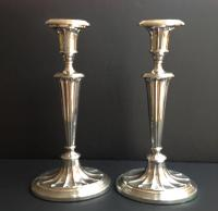 Lovely Pair of Tall Silver Candlesticks