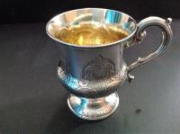 Antique Early Victorian Silver Christening Cup - 1840