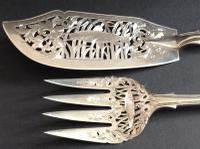 Antique Victorian Silver Coburg Fish Set - 1856 (2 of 9)