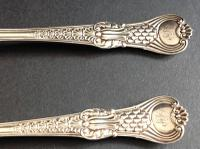 Antique Victorian Silver Coburg Fish Set - 1856 (5 of 9)
