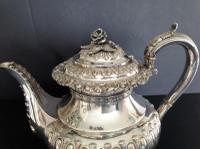 Large Antique Georgian Silver Tea / Coffee Pot - 1824 (2 of 9)