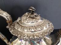 Large Antique Georgian Silver Tea / Coffee Pot - 1824 (4 of 9)