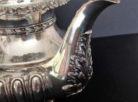 Large Antique Georgian Silver Tea / Coffee Pot - 1824 (6 of 9)