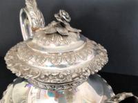 Large Antique Georgian Silver Tea / Coffee Pot - 1824 (7 of 9)