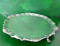 Antique Georgian Silver Salver - Heming (2 of 6)