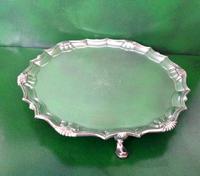 Antique Georgian Silver Salver - Heming (6 of 6)