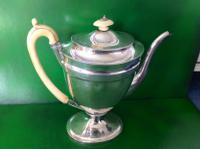 Elegant Antique Georgian Silver Coffee Pot - Emes 1801 (6 of 6)