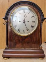 Small 19th Century English Twin / Double Fusee Mahogany Bracket / Mantel Clock with 8 Day Striking Movement
