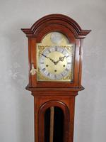 Fine Quality German 1920s Glass Fronted Mahogany Grandmother or Small Grandfather Longcase Clock with Musical Quarter Chimes & Hour Strike (2 of 7)