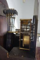 8 Day Westminster Chiming Musical Mahogany Small Grandfather or Grandmother Longcase Clock with Oval Glass To Trunk Door (7 of 7)