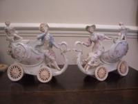 Pair of 19th Century Chariot Vases