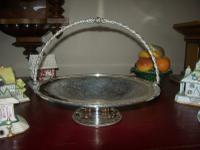 Victorian Silver Plated Cake Stand or Dish