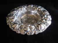 Antique Edwardian Solid Silver Cherub and Flower Dish 1904