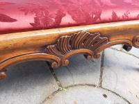 Substantial Country House Victorian Walnut Stool (5 of 8)