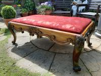 Substantial Country House Victorian Walnut Stool (3 of 8)