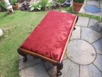 Substantial Country House Victorian Walnut Stool (8 of 8)