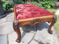 Substantial Country House Victorian Walnut Stool (2 of 8)