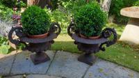 19th Century French Cast-Iron Urns (3 of 7)