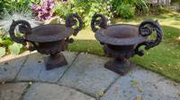 19th Century French Cast-Iron Urns