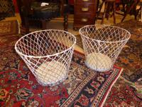 A pair of Victorian French Wire Baskets