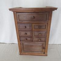 Bank of Teak Drawers with Cupboard