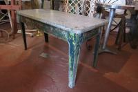 Cast Iron Enamelled & Painted Table Early 20th Century