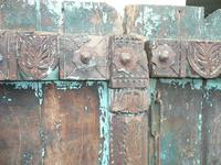 Pair of 19th Century Painted Indian Doors (3 of 3)
