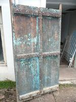 Pair of 19th Century Painted Indian Doors