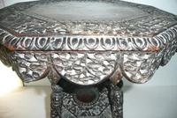 Decorative Carved Side Table c.1900 (3 of 6)