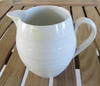 An Ironstone White Jug Early 20th C.
