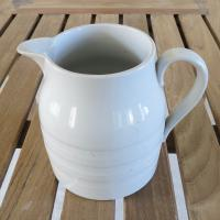 White Ironstone Kitchen Jug Early 20th Century