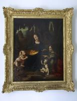 'Madonna of the Rocks' 19th Century Italian School Oil Painting