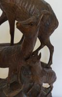 Fine Black Forest Carving of Goats (5 of 8)
