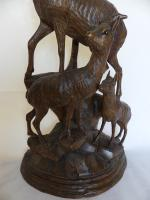 Fine Black Forest Carving of Goats (4 of 8)